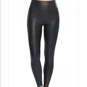 Spanx Black Ready-to-Wow! Faux Leather Leggings